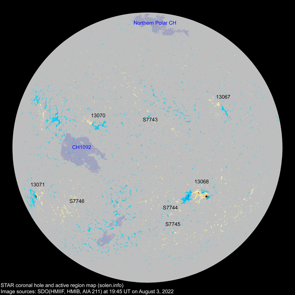 Sunspot Regions Map